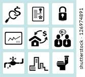 real estate management icon set | Shutterstock .eps vector #126974891