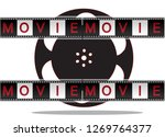 red and black film on a white... | Shutterstock .eps vector #1269764377
