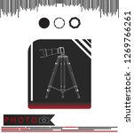 camera with tripod on a black... | Shutterstock .eps vector #1269766261