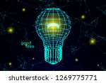 3d plexus light bulb vector... | Shutterstock .eps vector #1269775771