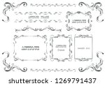 antique frame set | Shutterstock .eps vector #1269791437