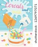 cereals and milk poster | Shutterstock .eps vector #1269797071