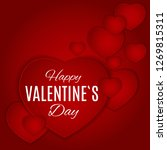 valentine's day love and... | Shutterstock .eps vector #1269815311