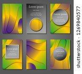 minimal vector covers set.... | Shutterstock .eps vector #1269840577