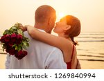 male making proposal with... | Shutterstock . vector #1269840994