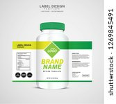 bottle label  package template... | Shutterstock .eps vector #1269845491