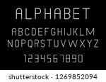 white of font and alphabet.... | Shutterstock . vector #1269852094