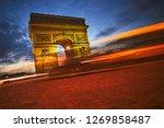 beautiful view of triumphal... | Shutterstock . vector #1269858487
