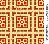 vector modern tiles pattern.... | Shutterstock .eps vector #1269861097