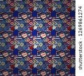 vector. candies on seamless... | Shutterstock .eps vector #1269861274