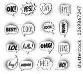 16 speech bubbles flat style... | Shutterstock .eps vector #1269867247