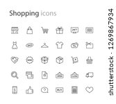 thin line icons set shopping  e ... | Shutterstock .eps vector #1269867934
