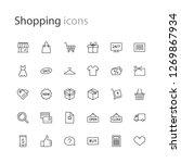 thin line icons set shopping  e ... | Shutterstock .eps vector #1269867934