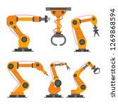 6 robotic arm flat style design ... | Shutterstock .eps vector #1269868594