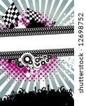 poster for racing competitions... | Shutterstock .eps vector #12698752