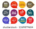 sale quality badges. round... | Shutterstock .eps vector #1269879604