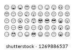 black emoticons   vector... | Shutterstock .eps vector #1269886537