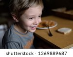dinner in a poor family. food... | Shutterstock . vector #1269889687