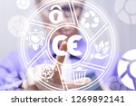 Small photo of Man pushing a ce abbreviation icon on a virtual screen. CE - european conformity certification mark business industry system.