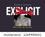 typography slogan with sexy... | Shutterstock .eps vector #1269909631