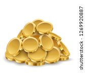 gold coins pile isolated on... | Shutterstock .eps vector #1269920887