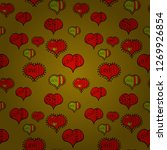 girlish repeated backdrop with... | Shutterstock .eps vector #1269926854