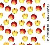 watercolor apple seamless.... | Shutterstock . vector #1269930457