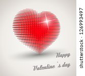 red retro shine disco heart....   Shutterstock .eps vector #126993497
