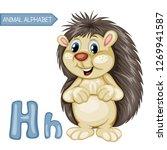 animal alphabet. h is for... | Shutterstock .eps vector #1269941587