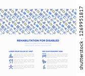 rehabilitation for disabled...   Shutterstock .eps vector #1269951817