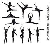 female dancers vector... | Shutterstock .eps vector #126995234