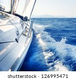 yacht. sailing. yachting.... | Shutterstock . vector #126995471