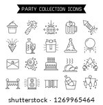 party and celebration icons... | Shutterstock .eps vector #1269965464