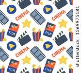 cinema hand drawn seamless... | Shutterstock .eps vector #1269975181