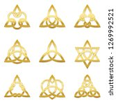 celtic triangle knots. nine... | Shutterstock .eps vector #1269992521