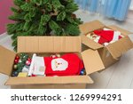 boxes with christmas... | Shutterstock . vector #1269994291