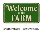 welcome to the farm vintage... | Shutterstock .eps vector #1269996307