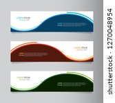 vector abstract web banner... | Shutterstock .eps vector #1270048954