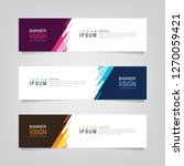 vector abstract web banner... | Shutterstock .eps vector #1270059421