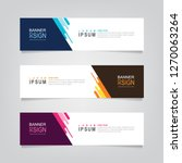 vector abstract web banner... | Shutterstock .eps vector #1270063264