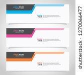 vector abstract web banner... | Shutterstock .eps vector #1270066477