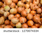 onions big golden on the... | Shutterstock . vector #1270074334