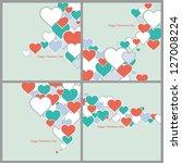 happy valentine's day | Shutterstock .eps vector #127008224