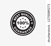 best quality guarantee stamp... | Shutterstock .eps vector #1270089271