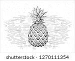 hand draw of vector black and... | Shutterstock .eps vector #1270111354
