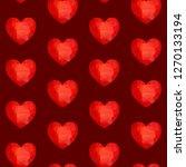 vector gem heart seamless...   Shutterstock .eps vector #1270133194