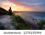 kirra hill sunset | Shutterstock . vector #1270155394