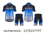 cycling jerseys mockup t shirt... | Shutterstock .eps vector #1270157797