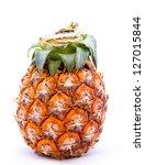 ripe pineapple isolated on white   Shutterstock . vector #127015844