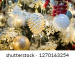 christmas ornaments on the...   Shutterstock . vector #1270163254